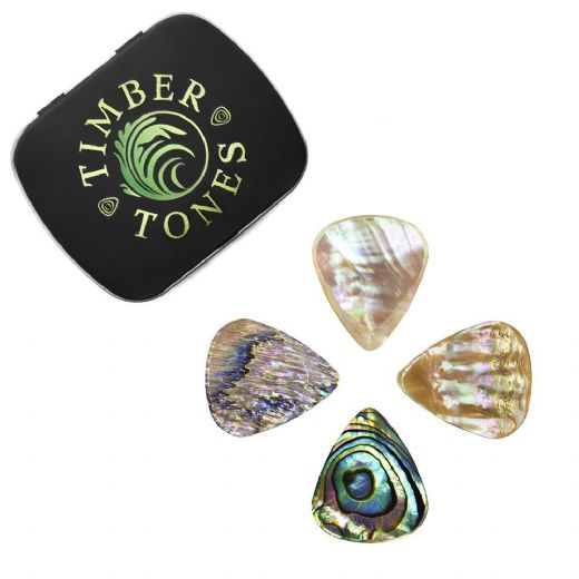 Abalone Tones Mixed Tin of 4 Guitar Picks